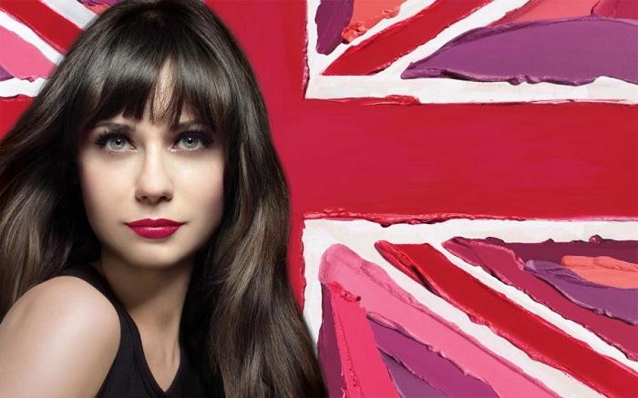 Zooey Deschanel Rimmel Advert. I really like Rimmel lipsticks