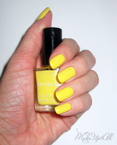 Nails Of The Day: Inglot 722 Yellow Nail Polish | MakeUp4All