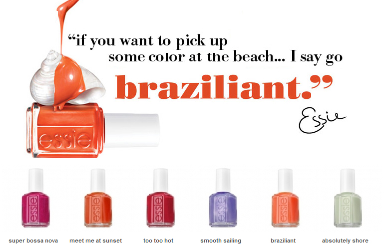 Essie Braziliant, Free Shipping at Nail Polish Canada