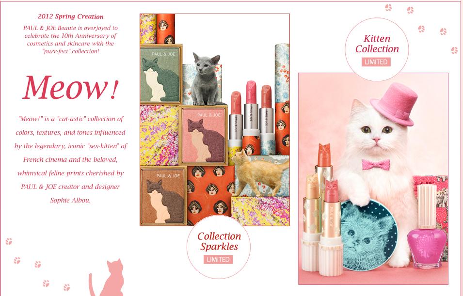 1bdaae8ca70d7 Paul   Joe Spring 2012 Kitten Makeup Collection