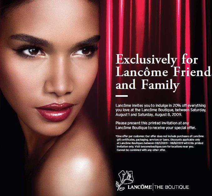 Lancome Sale 20 % Off