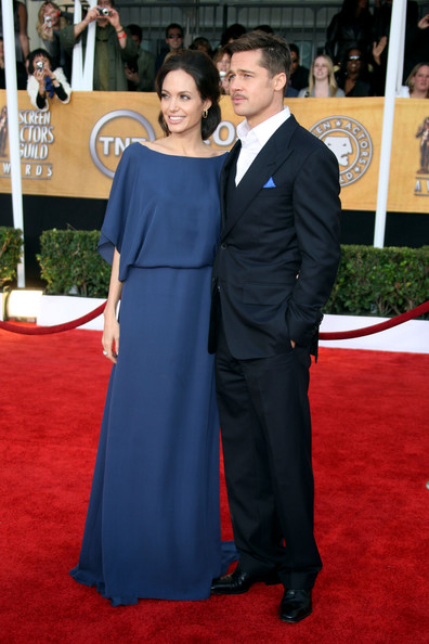 Angelina Jolie and Brad Pitt at the SAG Awards 2009