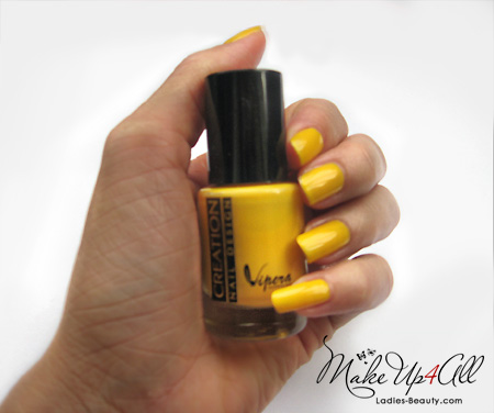 creation nail design yellow nail polish (1)