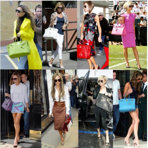 Victoria Beckham hermes birkin bags