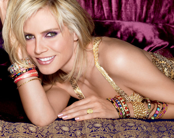 Heidi Klum VS makeup holiday 2009