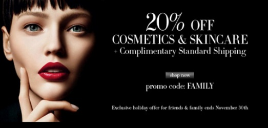 armani cosmetics FF 20 off