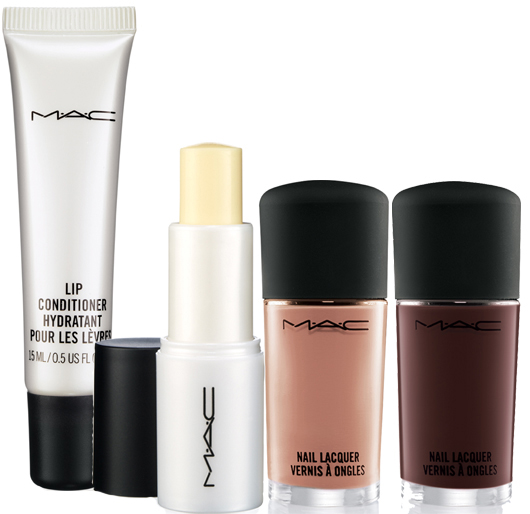 mac warm and cozy nails, lip conditioner
