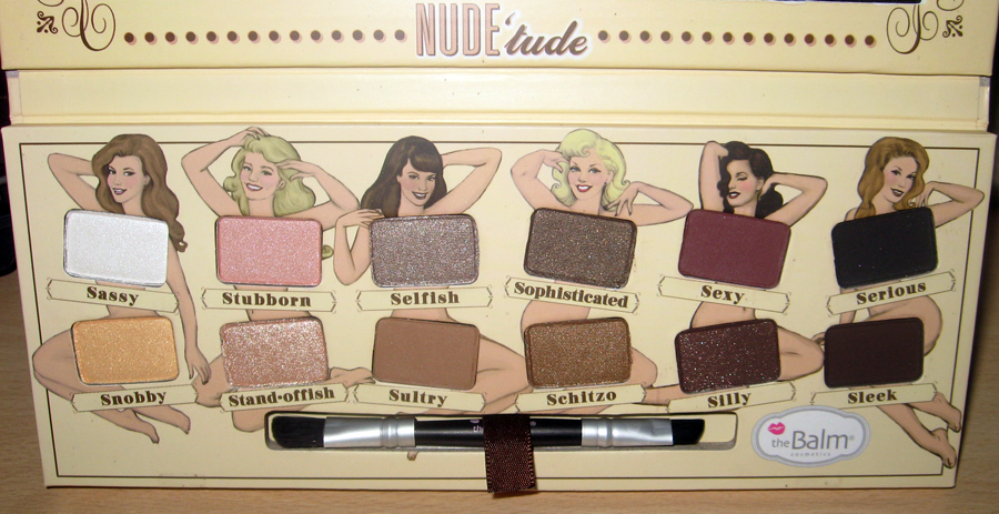 theBalm Nude Tude Eye Shadows Palette Review and Swatches shades