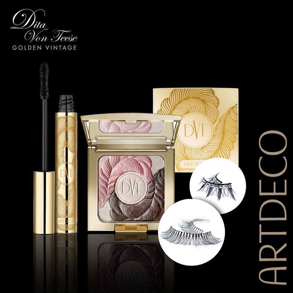 artdeco dita von teese golden vintage makeup collection. Black Bedroom Furniture Sets. Home Design Ideas