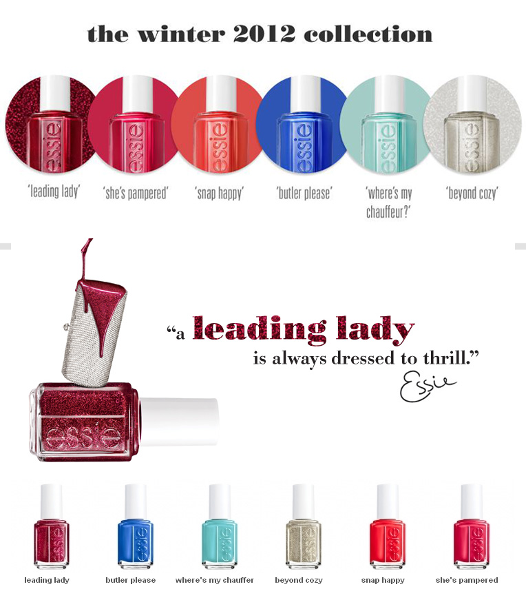 Essie Leading Lady Nail Polish Collection for Winter 2012 | MakeUp4All