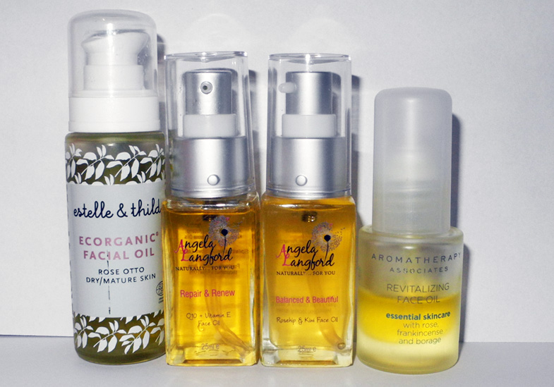 Oils for Face Estelle & Thild, Angela Langford, Aromatherapy Associates