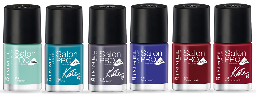 Rimmel London Salon Pro Nail Polish By Kate shades
