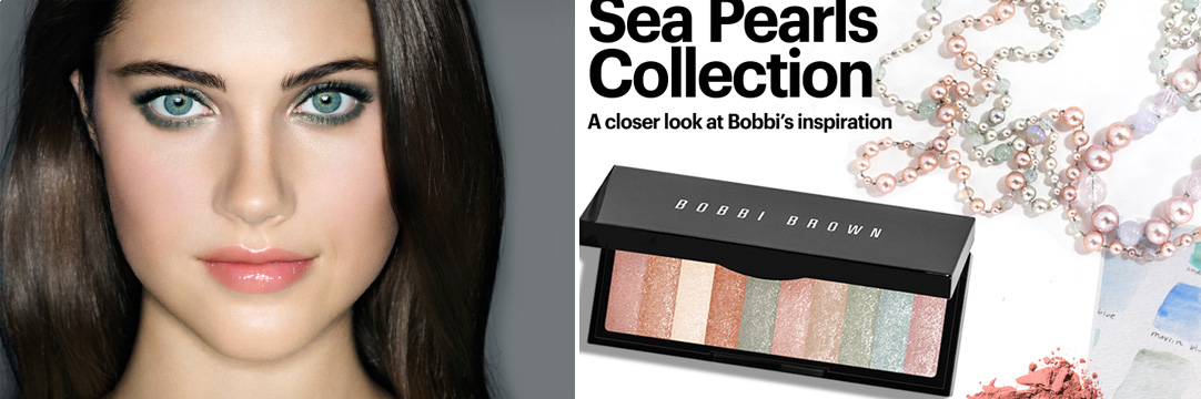 Bobbi Brown Sea Pearls Makeup Collection for Summer 2013 promo