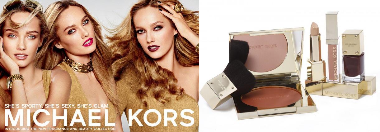 Michael Kors Makeup line model and products