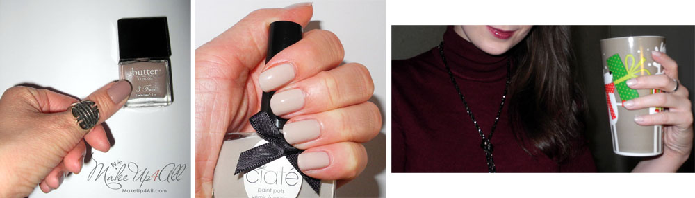 Nude nail polishes butter LONDON Ciate Rimmel