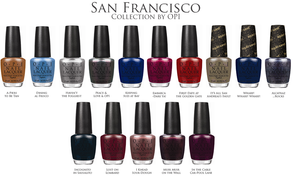 OPI San Francisco Nail Polish Collection for Fall 2013 shades