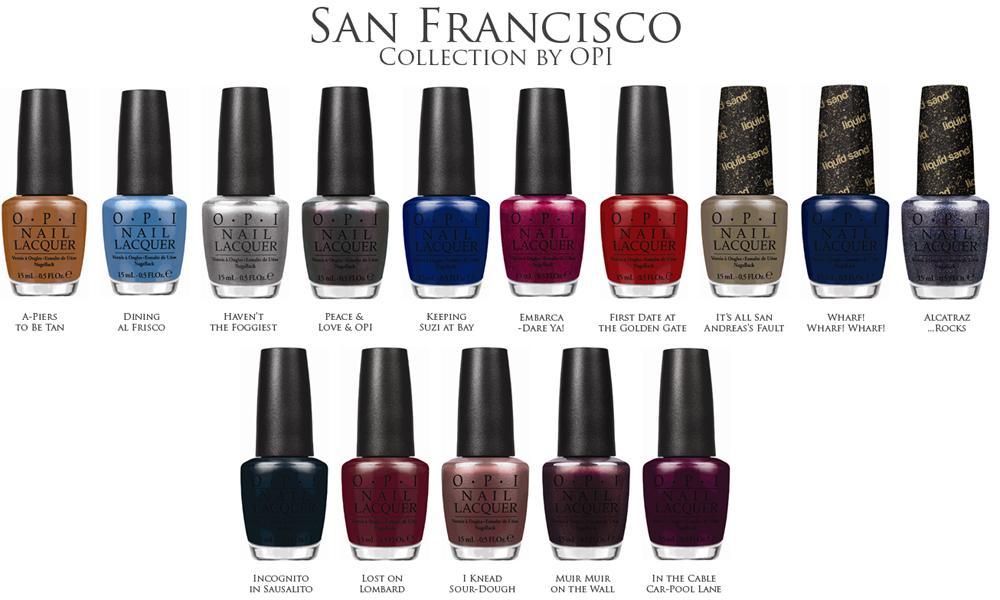 OPI San Francisco Nail Polish Collection for Fall 2013 shades