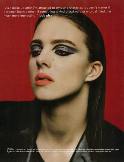 i-D magazine summer 2013, makeup by Lucia Pica 1