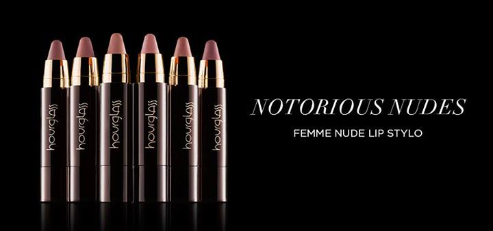 Hourglass Cosmetics  Notorious Nudes Femme Nude Lip Stylos promo
