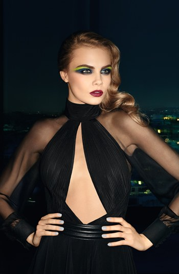 Yves Saint Laurent Makeup Collection for Fall 2013 promo with Cara Delevigne