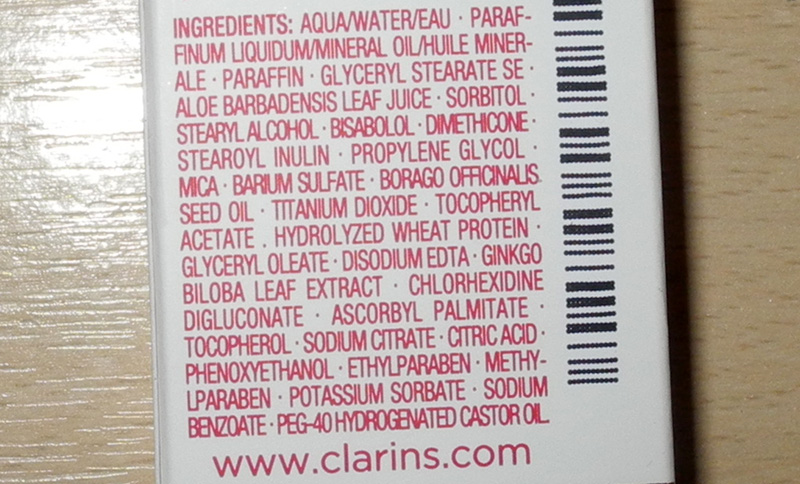 Clarins Special Eye Contour Balm Dry Skin Review  ingredients