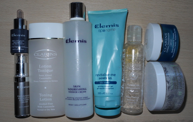 Empties Cralins, Elemis, terre d'Oc and Linden Leaves