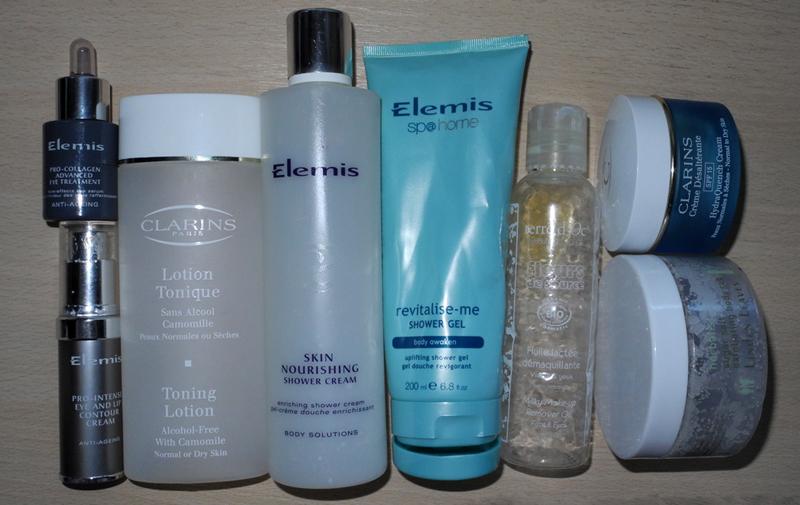Empties Cralins, Elemis, terre d'Oc and Linden Leaves