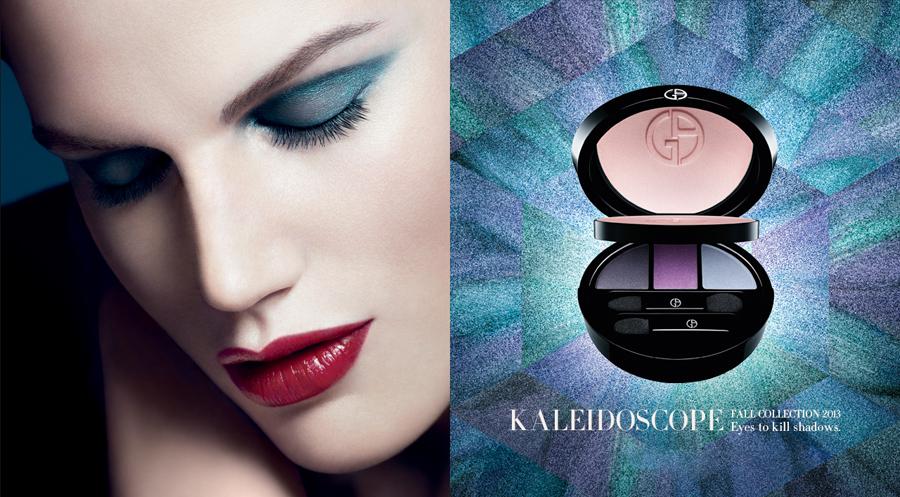 Giorgio Armani Kaleidoscope Makeup Collection for Fall 2013 promo
