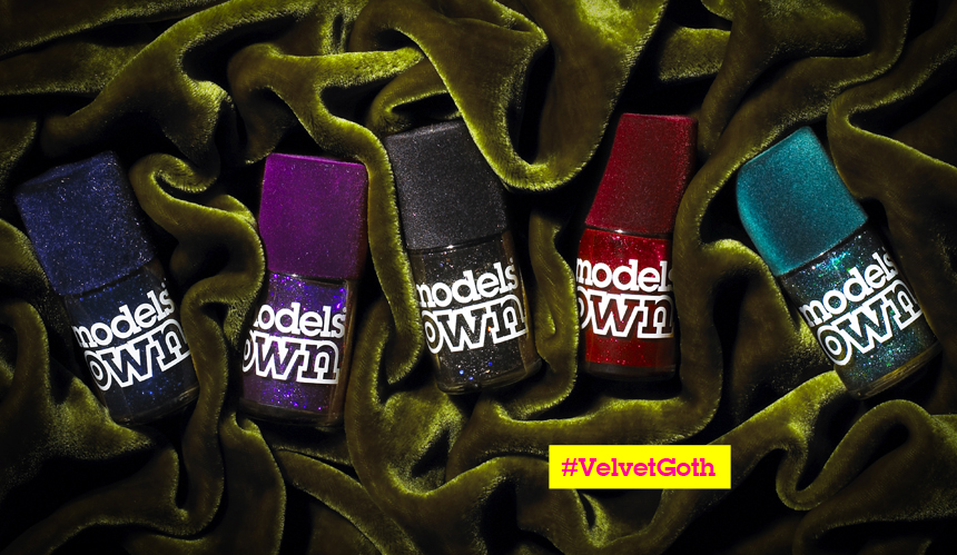 Models Own Velvet Goth nail polish collection