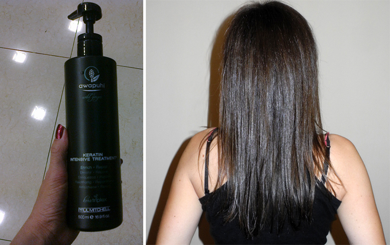Paul Mitchell Awapuhi Wild Ginger Keratin Intensive Hair Treatment applied