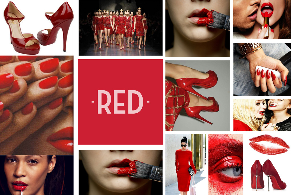 Red for Makeup4all shoes, nails, lips, dresses