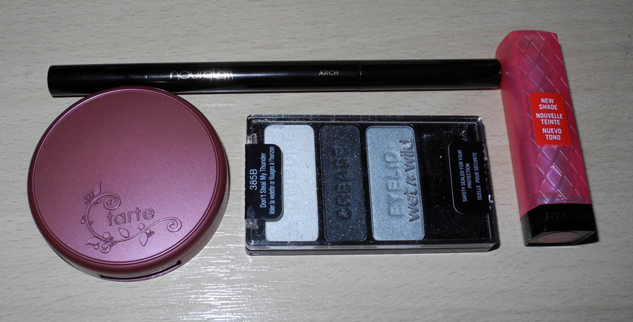 tarte Amazonian Clay Blush Revlon Lip Butter Hourglass Arch pencil Wet N Wild palette