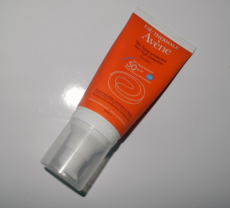 Avene  Very High Protection Emulsion 50+ SPF UVA UVB Review