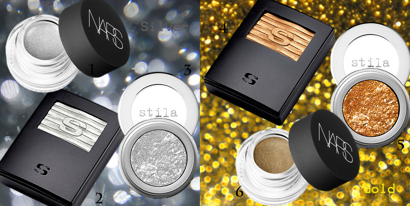 Fall 2013 eye makeup silver and gold NARS Sisley and Stila