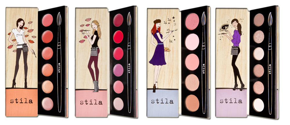 Stila Makeup Collection and Kits for Holiday 2013 eyes lips and cheeks palettes