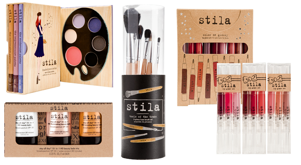 Stila Makeup Collection and Kits for Holiday 2013 palettes BB Creams and brushes