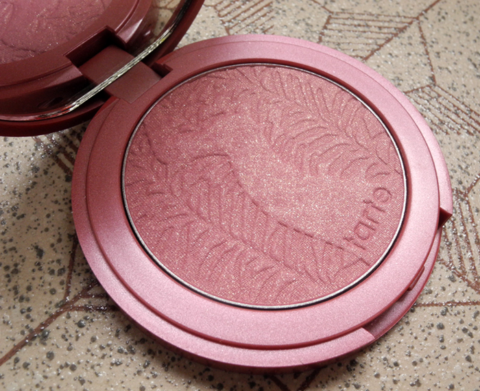 Tarte Amazonian Clay Blush in Blushing Bride Review and Swatches close up