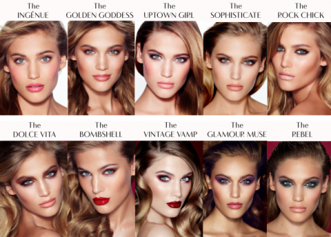 charlotte tilbury makeup and beauty range promo