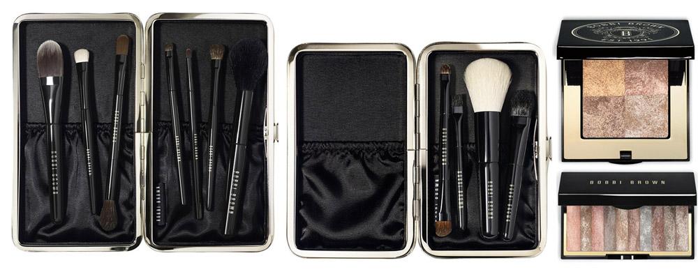 Bobbi Brown Makeup Collection for Holiday 2013 brushes and shimmer bricks