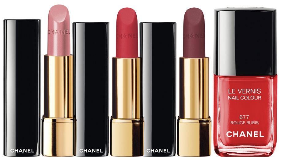 Chanel Nuit Infinie de Chanel Makeup Collection for Christmas 2013 lips and nails