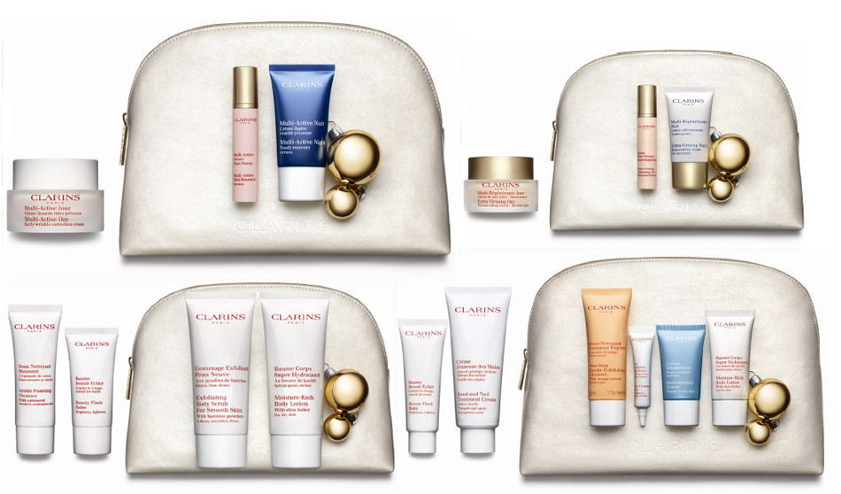 Clarins Christmas Gift Sets 2013 face and body value kits