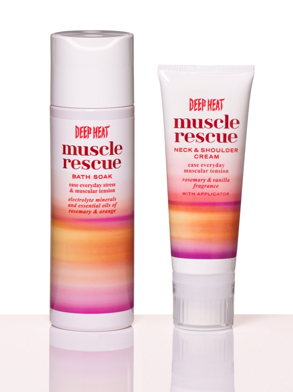 Deep Heat Muscle Rescue cream and bath soak makeup4all giveaway