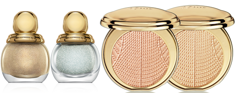 Dior Golden Winter Makeup Collection for Christmas 2013 nail polishes and highlighters