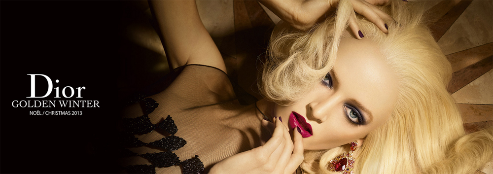 Dior Golden Winter Makeup Collection for Christmas 2013 promo with Daria Strokous