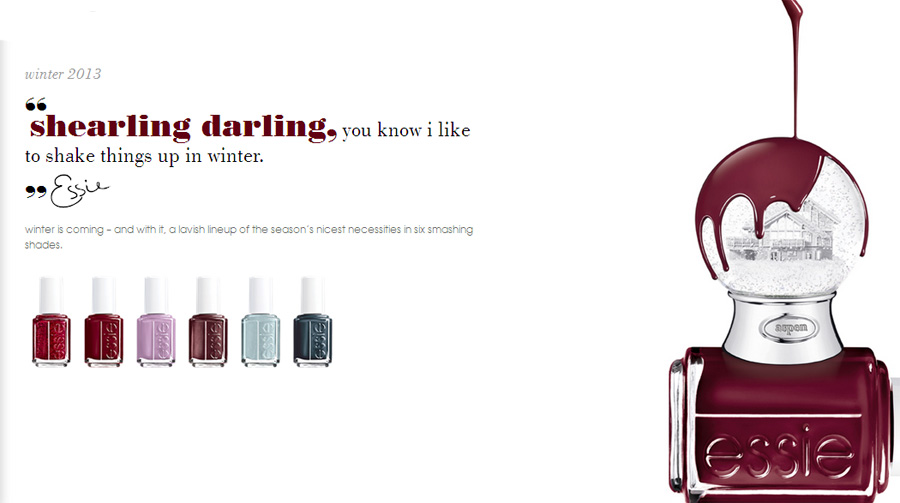 Essie holiday 2013 nail polish colection
