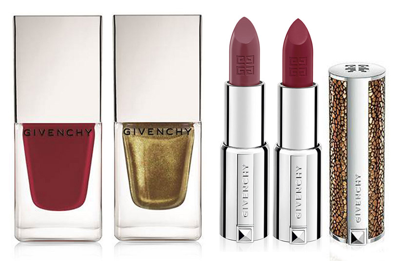 Givenchy Makeup Collection for Christmas 2013 nails and lips
