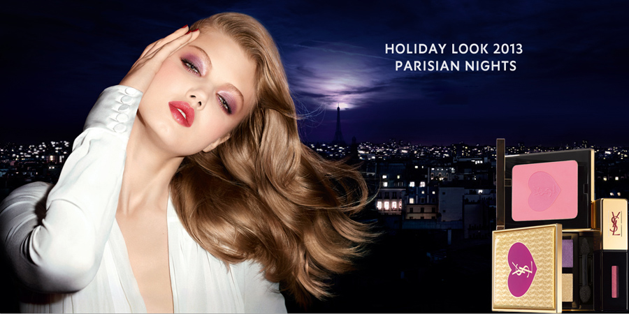 Yves Saint Laurent Parisian Nights Makeup Collection for Christmas 2013 Lindsey Wixson