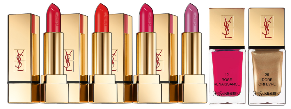 Yves Saint Laurent Parisian Nights Makeup Collection for Christmas 2013 lips & nails