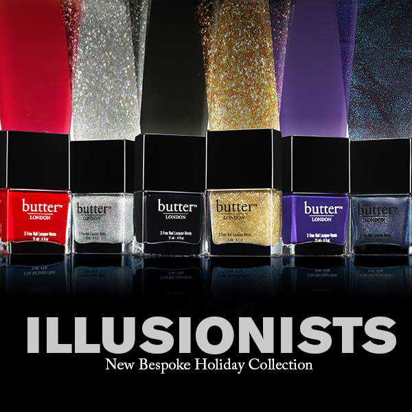 butter LONDON Illusionist Lacquer Collection for Holiday 2013 promo