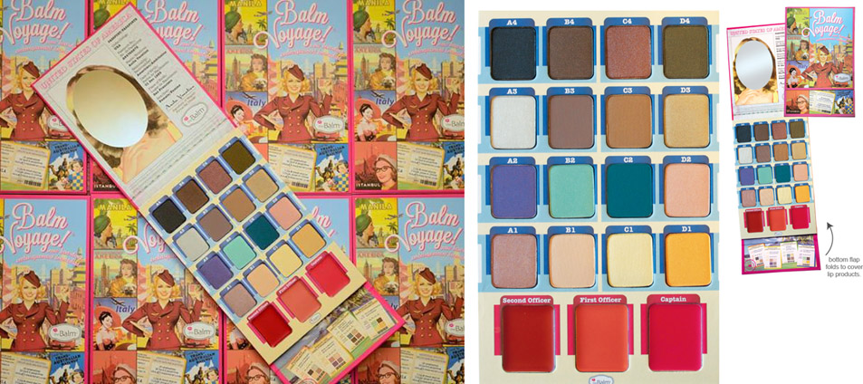 theBalm Balm Voyage makeup palette for holiday 2013 promo